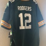 We auctioned an autographed Aaron Rodgers Jersey and Randall Cobb Jersey!