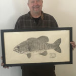 Mark Olson with Fish Print
